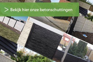 Voorbeelden van een betonschutting die Schutting Service geplaatst heeft