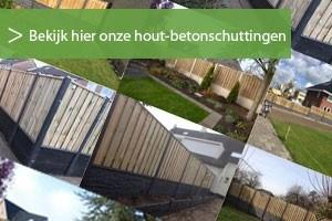 Voorbeelden van hout beton schutting inclusief plaatsen